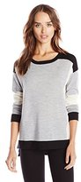 Design History Women's Merino Wool Colorblock Sweater