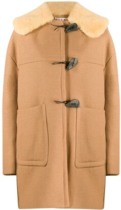 Marni Shearling Collar Duffle Coat