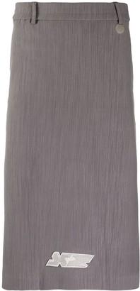 Xander Zhou Contrast Patch Skirt