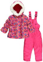 "Weatherproof Baby Girls' ""Snow Daisies"" 2-Piece Snowsuit"