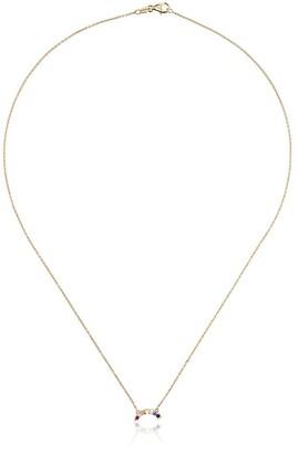 Andrea Fohrman Yellow Gold Small Rainbow Ruby Necklace