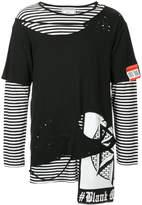 Miharayasuhiro distressed layered T-shirt