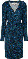Diane von Furstenberg embroidered wrap dress - women - Silk - 10