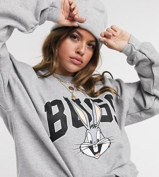 In The Style Plus x Olivia Bowen oversized motif sweat in grey