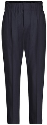 Brunello Cucinelli Exclusive to Mytheresa High-rise slim wool-blend paperbag pants