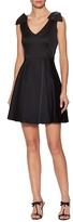 Shoshanna Bow Appliqu&eacute Flared Dress