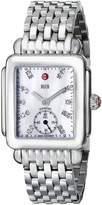 Michele Women's MWW06V000002 Deco 16 Analog Display Swiss Quartz Silver Watch