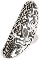 Lucky Brand Ring, Silver-Tone Openwork Long Ring