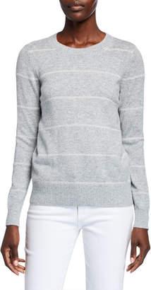 MICHAEL Michael Kors Tinsel Stripe Long-Sleeve Sweater