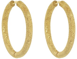 Carolina Bucci Small Florentine Finish Thick Round Hoop Earrings - Yellow Gold