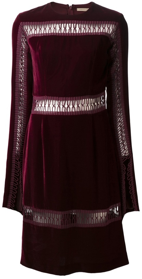 Christopher Kane loop panel velvet dress
