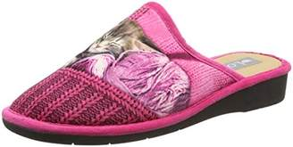 Lotus Women's Nellie Open Back Slippers, Pink Multi), 37 EU
