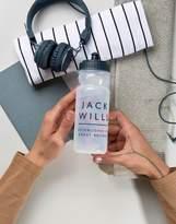 Jack Wills Plastic Logo Water Bottle In Clear