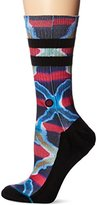 Stance Men's Pigments Graphic Surf Print Arch Support Classic Crew Sock
