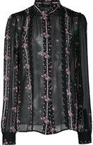 Giambattista Valli floral print sheer shirt - women - Silk - 42
