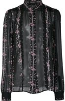 Giambattista Valli floral print sheer shirt