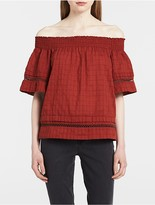 Calvin Klein Off-Shoulder Boho Top