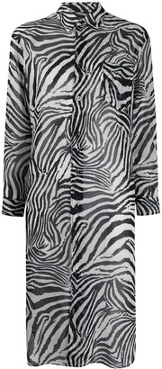 Junya Watanabe Patch-Pocket Longline Zebra Shirt