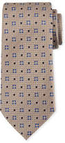 Ermenegildo Zegna Diamond Ground Silk Tie, Brown