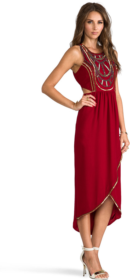 6 Shore Road Psychedelic Embellished Maxi Dress