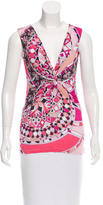 Emilio Pucci Sleeveless Abstract Print Top