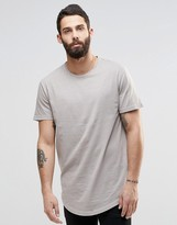 ONLY & SONS Longline T-Shirt With Wide Neck