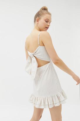 MinkPink Rosana Tie-Back Mini Dress