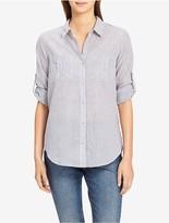Calvin Klein Pinstripe Roll-Sleeve Shirt