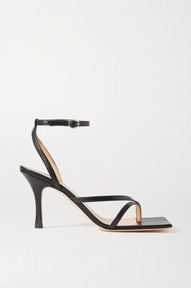 A.W.A.K.E. Mode Delta Leather Sandals - Black