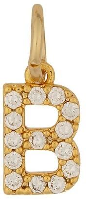 Mocha Letter Charm Gold - B