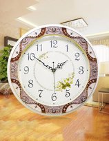 SUNQIAN-Creative garden wood wall clock, large Vintage American quartz clock clock Taiwan