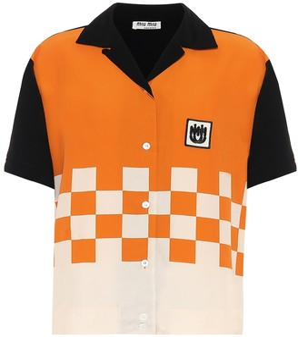 Miu Miu Checkerboard shirt