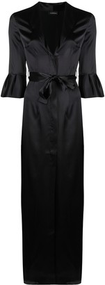 La Perla Exotique flared-cuffs robe