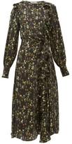 Preen by Thornton Bregazzi Nicola Ruffled Floral-print Silk-blend Midi Dress - Womens - Black Print
