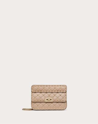 Valentino Small Rockstud Spike Nappa Leather Bag Women Poudre Lambskin 100% OneSize