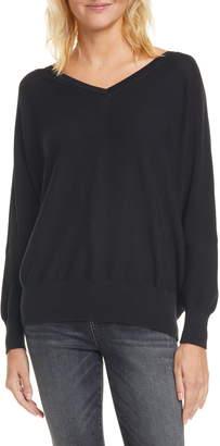 BA&SH Elsy V-Neck Open Back Sweater