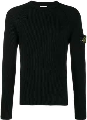Stone Island ribbed knit sweater