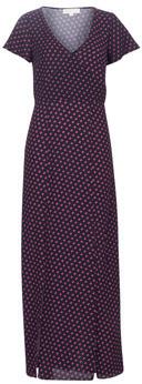 MICHAEL Michael Kors SLICE DOTS SLIT DRESS women's Long Dress in Black