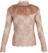 Bella Freud Lady Jane sheer floral-lace blouse