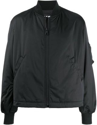 Y-3 Craft logo embroidered bomber jacket