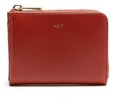 A.P.C. Julian zip-around leather coin purse