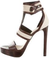 Belstaff Embossed Ankle Strap Sandals
