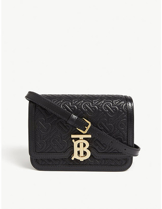 Burberry TB monogram mini leather shoulder bag