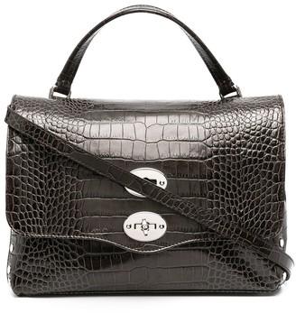 Zanellato small Postina croc-effec top-handle bag