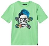 Animal Green Tee with Teeky Skull Graphic