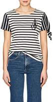 J.W.Anderson Women's Knotted-Sleeve Striped Cotton T-Shirt