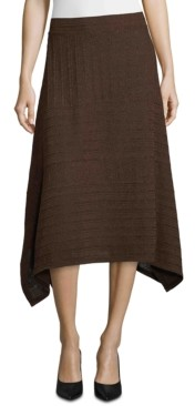JPR John Paul Richard Handkerchief-Hem Textured Skirt