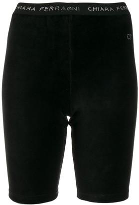 Chiara Ferragni Velvet Shorts