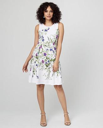 Le Château Floral Print Fit & Flare Knit Dress