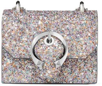 Jimmy Choo Glitter-Embellished Mini Paris Cross-Body Bag